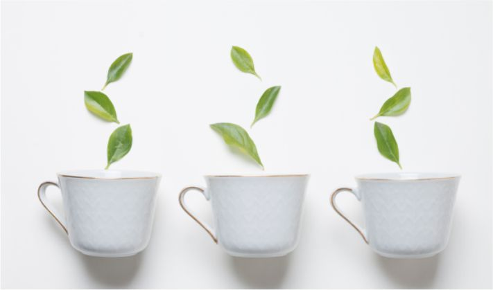 Chá da xícara pintada